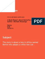 Book_Report on Butterfly Lions