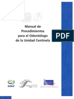 Manual Proc Odontologo Unid Centinela SIVEPAB
