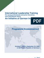 International Leadership Training_deadline 30 April 08