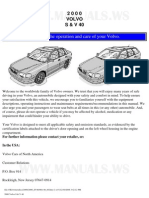 2000 Volvo S40 Owner's Manual