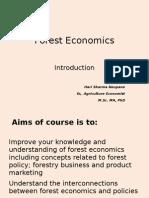 Forest Economics_ Introduction