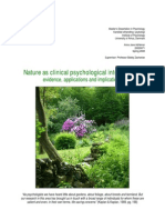 Nature as clinical psychological intervention