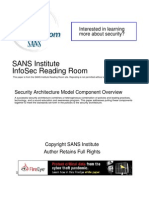 Security Architecture Model Component Overview 526