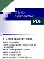 O texto argumentativo - Falácias