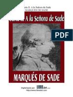 Marques de Sade - Carta II, A La Señora de Sade