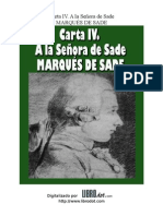 Marques de Sade - Carta IV