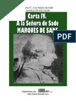 Marques de Sade - Carta IV