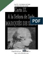 Marques de Sade - Carta Ix