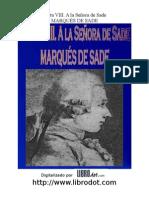 Marques de Sade - Carta Viii