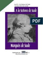 Marques de Sade -Carta III