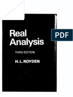 Real Analysis Royden