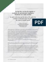Artigo - O espírito das leis e as leis do espírito - a evolução do pensamento legislativo brasileiro em saúde mental