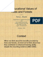 The Educational Values of Trees and Forests