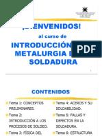00 Introduc Metalurgia Sold Bienvenida Contenido