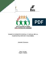 Normatividad participación en Colombia