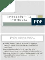 EVOLUCIÓN DE LA PSICOLOGÍA
