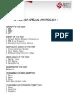 Special Awards 2011