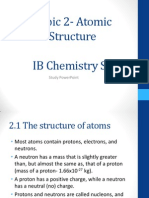 Topic 2- Atomic Structure IB Chemistry SL