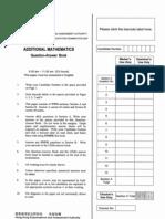 2007 CE Additional Mathematics Paper