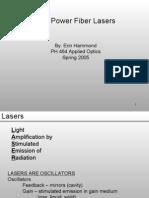 2005 Hammond High Power Fiber Lasers Presentation