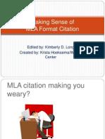 MLA Format Citation