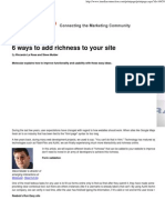 6 Ways to Add Richness to Your Site