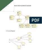 Multiplex Management System(Uml Diagrams)-Kaushal