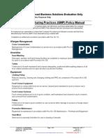 GMP Policy Manual