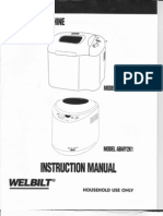 Welbilt ABM2H52 - ABMY2K1 Bread Machine Manual
