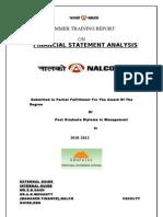 Financial Statement Analysis on Nalco 09-10