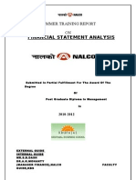 Financial Statement Analysis on Nalco 09-10