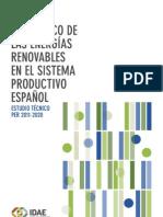 Impacto Económico de las Energías Renovables en el Sistema Productivo Español.