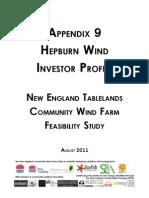 Appendix 9 ~ Hep Burn Wind Investor Profile Nicky Ison