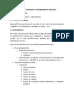 Proyecto Centro Entretenimiento AQP
