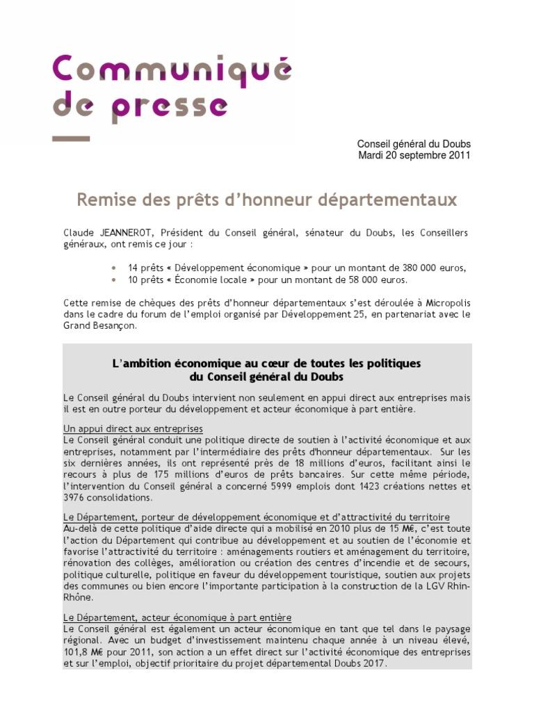 Cdp Remise Des Prets D Honneur Septembre 2011