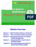 Portfolio Quality Maintenance