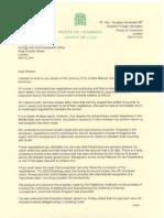 Douglas Alexander Letter to William Hague