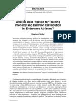 Training Intensity Distribution