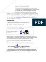 Prepositions of Direction 4 Sept
