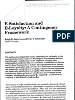 E-Satisfaction and Loyalty. a Contingency Framework