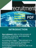 Recruitment -Aanchal Bansal