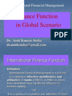 Finance Function in Global Scenrio