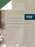 Chimie Organica - Teste Admitere Medicina 2011, Bucuresti