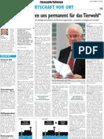 Interview mit Senior-Chef Paul-Heinz Wesjohann in der Oldenburgischen Volkszeitung vom 20.09.2011