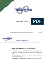 Academy of Robotics Applications of Robotics