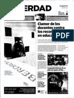 La Verdad de Albacete. 21-09-11. Clamor contra los recortes.