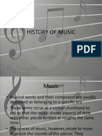 History of Music