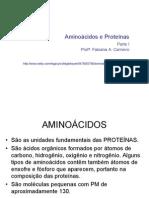 Aminoácidos e proteínas parte I Biotec_Nanotec