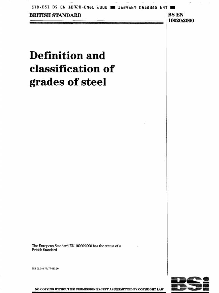 classification of steel grades pdf
