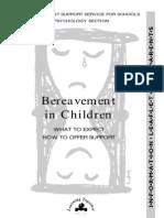 Bereavement in Children